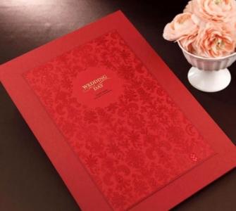 结婚证书夹 - 欧式艳红