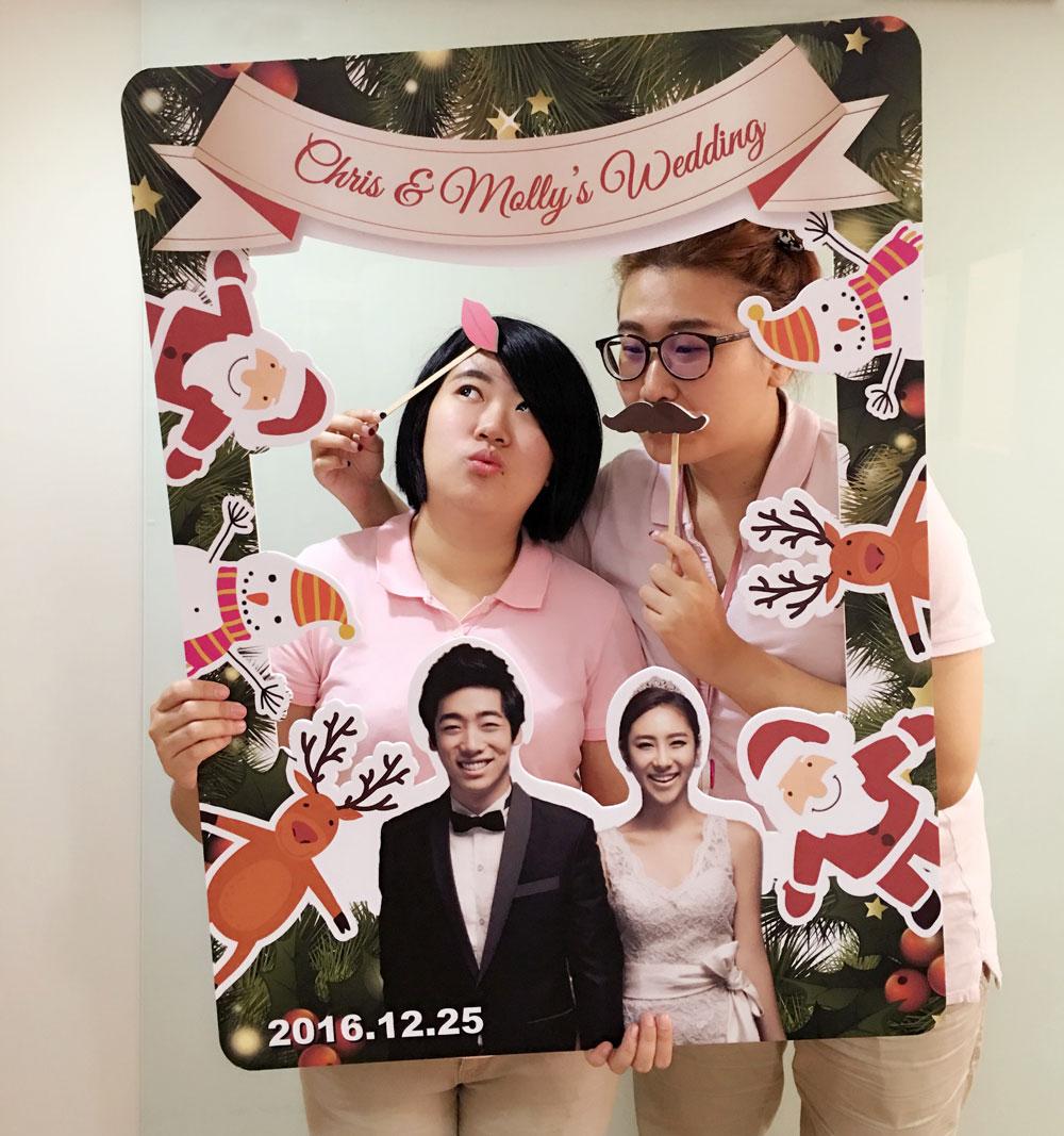 圣诞主题婚礼 趣味拍照框 / 来源